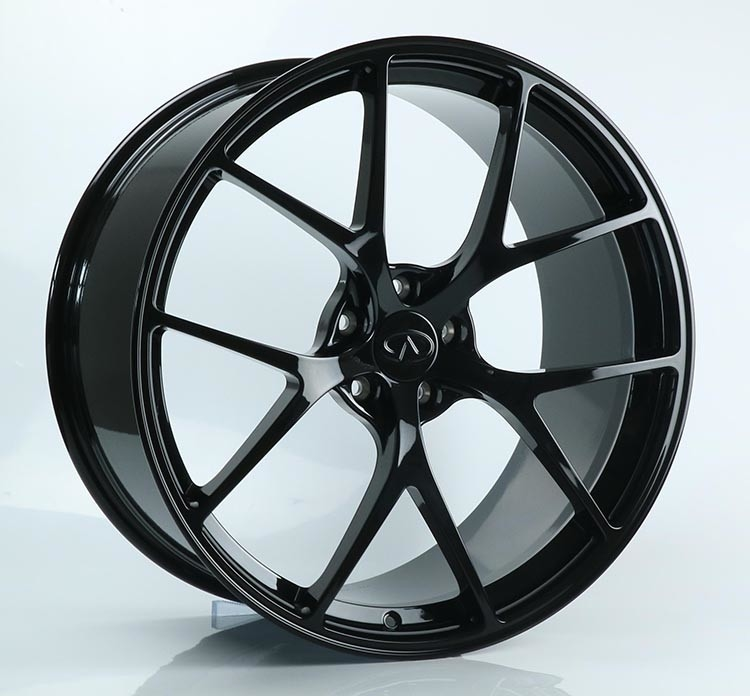 21x9J Gloss Black 1-PC Forged Lexus Wheels Made of 6061-T6 Aluminum Alloy