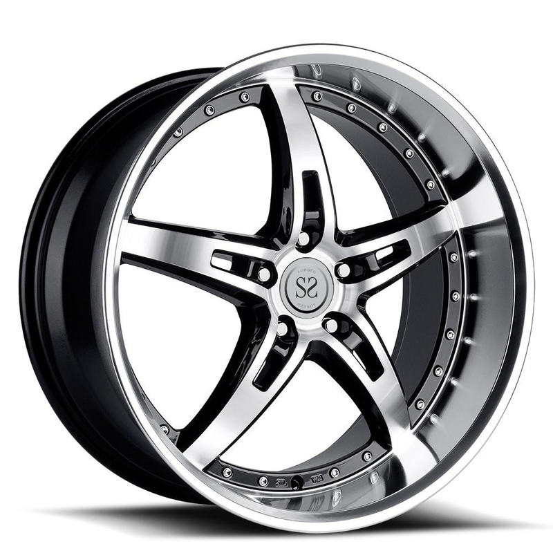 2-piece forged wheels 22 inch deep lip 4*4 customized 2 piece forged aluminum alloy whee rims