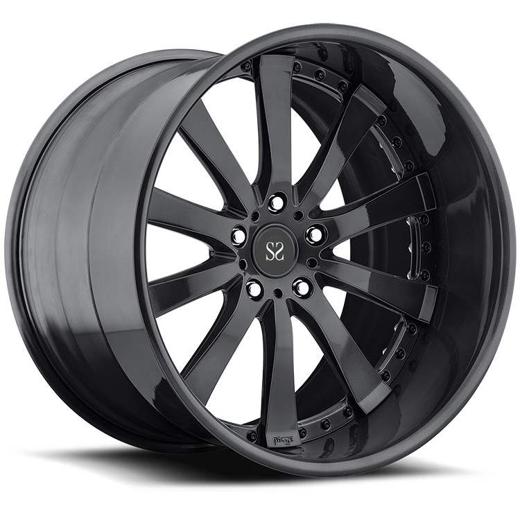 Gloss Black Customized Alloy Rims 22 For Land Rover  / 22 inch 2-Piece Forged rims