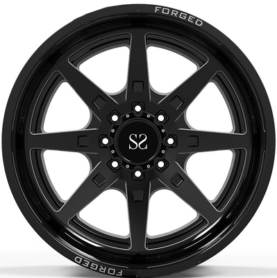 22x10, 22x12 i 22x14 Gloss Black Frezowanie Okna 4x4 / Deep Lip Forged Off Road Rims